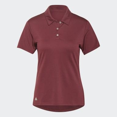 Women Golf Red Performance Polo Shirt