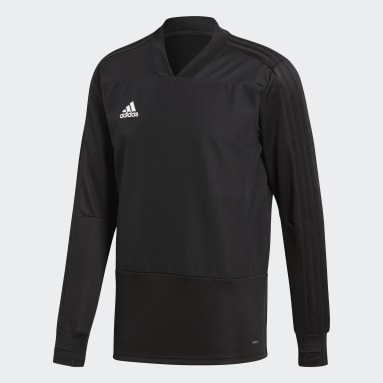 Camiseta manga larga entrenamiento Condivo 18 Player Focus Negro Hombre Gimnasio Y Entrenamiento