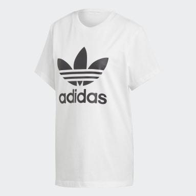T-shirt Boyfriend Trefoil Blanc Femmes Originals