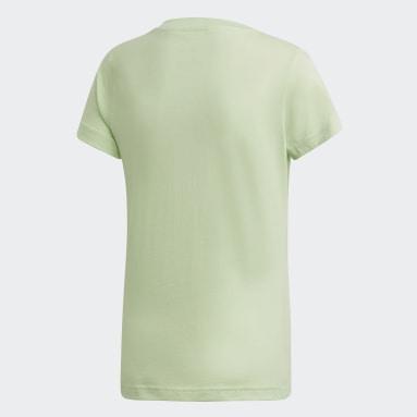 Dívky Cvičení A Trénink zelená Tričko Essentials Linear