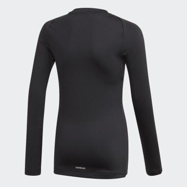 T-shirt Alphaskin Warm AEROREADY Warming Long Sleeve Noir Enfants Fitness Et Training