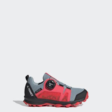Barn TERREX Blå Terrex Agravic Boa RAIN.RDY Hiking Shoes