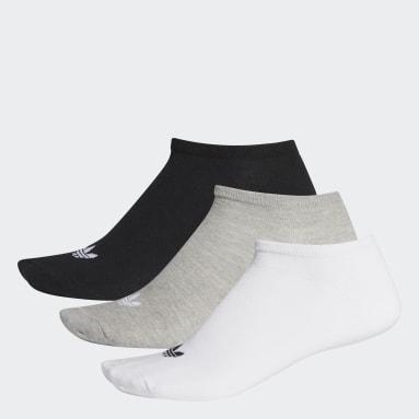 Originals White Trefoil Liner Socks 3 Pairs