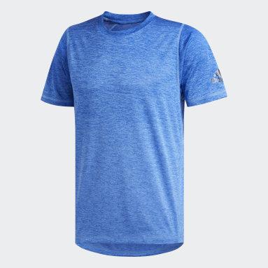Männer Yoga FreeLift 360 Gradient Graphic T-Shirt Blau