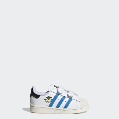 Kids Originals White Superstar Star Wars Shoes