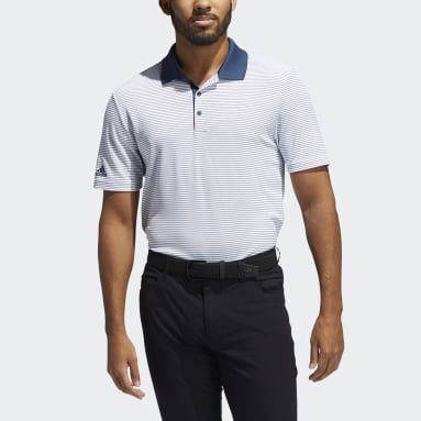 Two-Color Club Stripe Polo Shirt Bialy