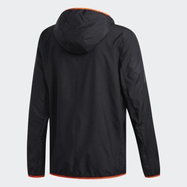 Men's Running Black Own the Run Hooded Wind Jacket