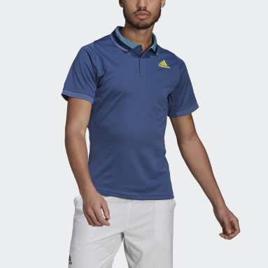 Herr Tennis Blå Tennis Freelift Primeblue HEAT.RDY Polo Shirt