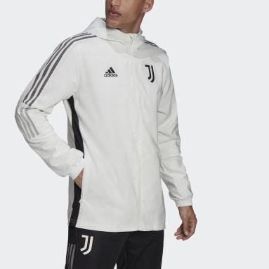 Men Football White Juventus Tiro Presentation Jacket