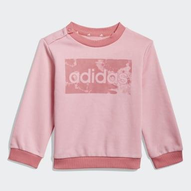Conjunto sudadera y pantalón adidas Essentials Rosa Niño Sportswear