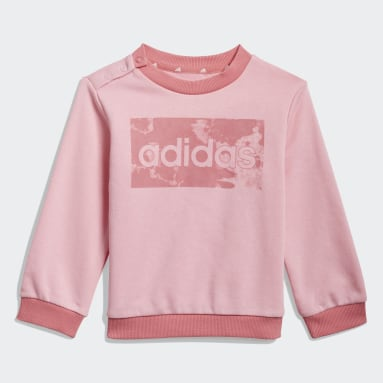 Sudadera y pants adidas Essentials Rosa Niño Diseño Deportivo