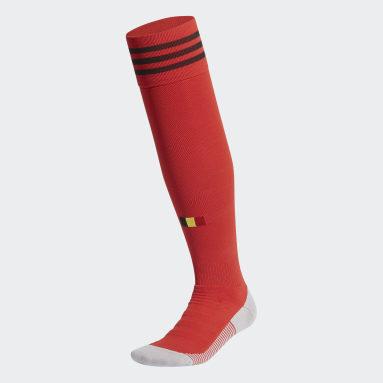 Chaussettes Belgique Domicile Rouge Football