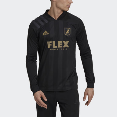Men's Soccer White Los Angeles FC 20/21 Long Sleeve Home Jersey
