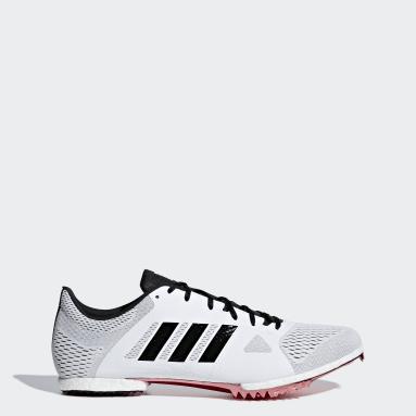Chaussure de demi-fond Adizero Blanc Hommes Athlétisme