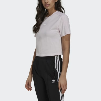 Tennis Luxe Cropped T-skjorte Rosa
