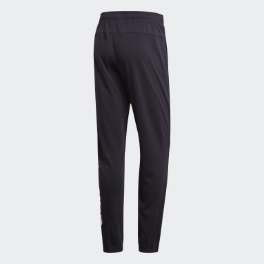 Pantalon Essentials Linear Tapered Noir Hommes Fitness Et Training