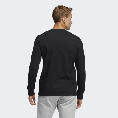Men's Sportswear Black adidas Geo Long Sleeve Graphic Tee