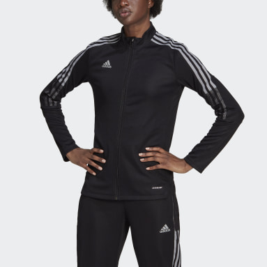 Women Football Black Tiro Reflective Track Top