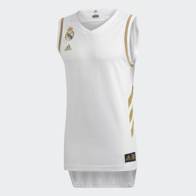 Maglia Game Real Madrid Bianco Basket