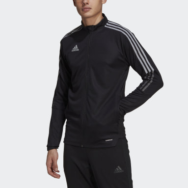 Men Soccer Black Tiro Reflective Track Jacket