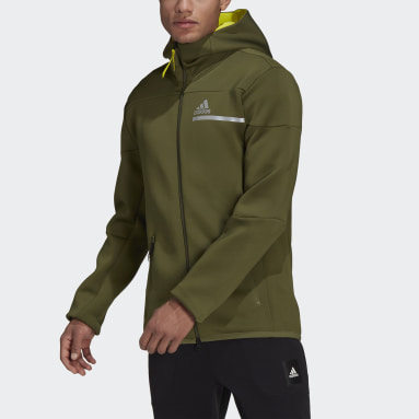 Men Sportswear Green adidas Z.N.E. Sportswear Innovation Motion Full-Zip Hoodie