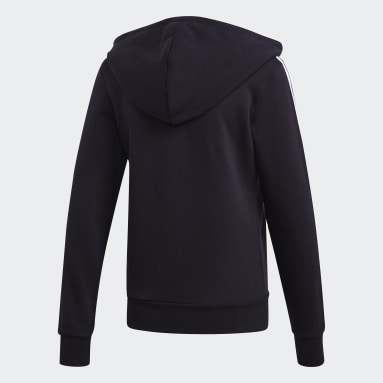 Women's Essentials Black Essentials 3-Stripes Fleece Hoodie