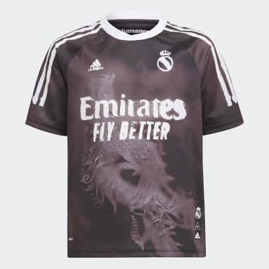 Maillot Real Madrid Human Race Noir Enfants Football
