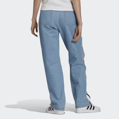 Women Originals Blue Denim Adibreak Pants