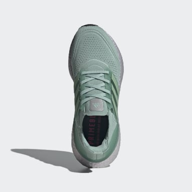 Women Running Green Ultraboost 21 Shoes