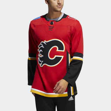 Men Hockey Red Flames Third Authentic Pro Jersey