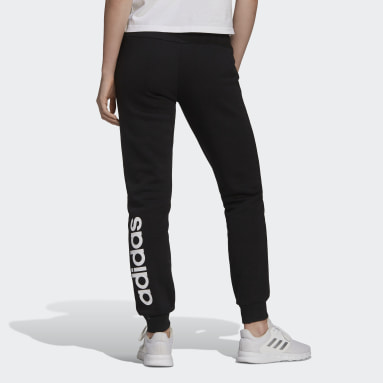 Women Sport Inspired Black Essentials Fleece Logo Pants