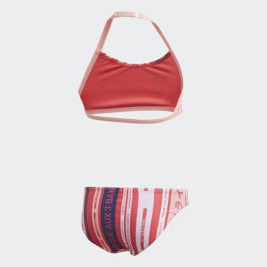 Dívky Plavání růžová Bikiny Graphic