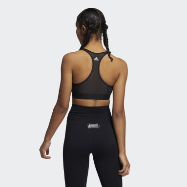 Top Deportivo Don't Rest Soporte Medio Negro Mujer Training