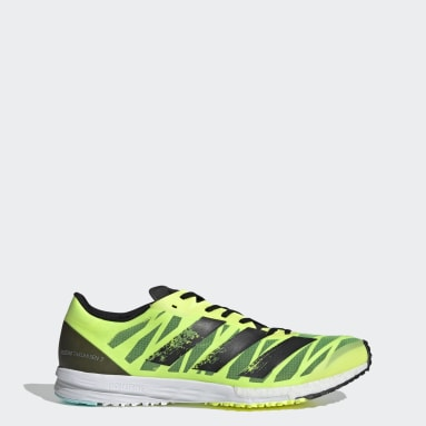 Men Running Yellow Adizero Takumi Sen 7 Shoes