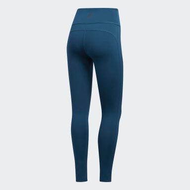 Calzas Believe This Reversibles - Tiro Alto Azul Mujer Training