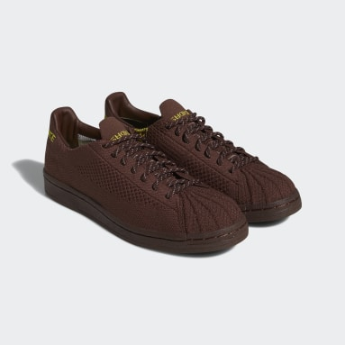 Scarpe Pharrell Williams Superstar Primeknit Marrone Originals