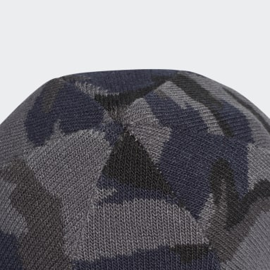 Camo Knit-Cuff Beanie Szary