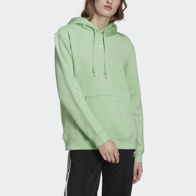 Sudadera con capucha Adicolor Essentials Fleece Verde Mujer Originals