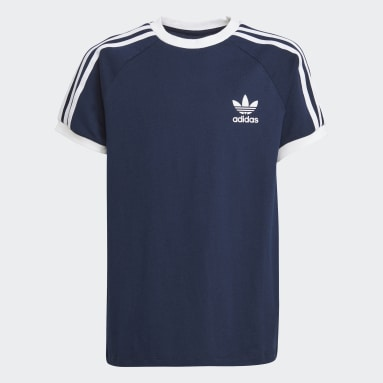 Kids Originals Blue 3-Stripes Tee