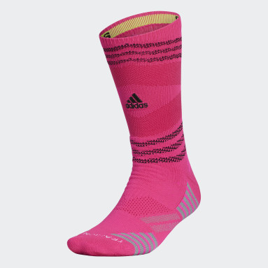 Football Pink Speed Mesh Team Crew Socks