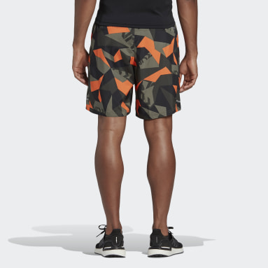 Shorts Run It Camouflage Verde Homem Running
