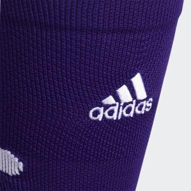 Football Purple Adizero Football Cushioned Crew Socks