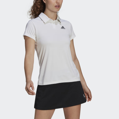 Women Tennis White HEAT.RDY Tennis Polo Shirt