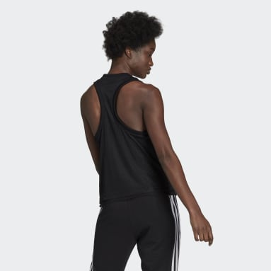 adidas Sportswear Double-Layer Mesh Tank Top Czerń