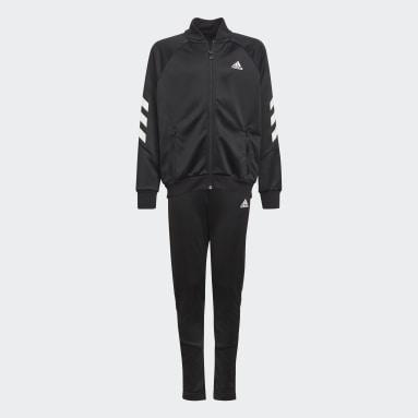 Boys Gym & Training Black XFG 3-Stripes Track Suit