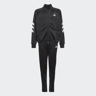 Youth 8-16 Years Gym & Training Black XFG 3-Stripes Tracksuit