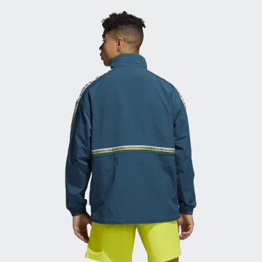 Männer Originals Taped Windbreaker Türkis