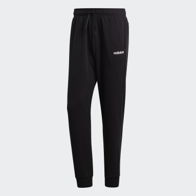 Muži Sportswear černá Kalhoty Essentials Plain Tapered Cuffed