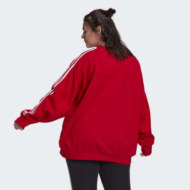 Sweat-shirt LOUNGEWEAR Adicolor Classics Oversize (Grandes tailles) Rouge Femmes Originals