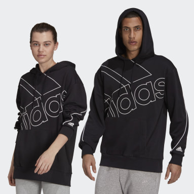 Sportswear Black Giant Logo Hoodie (Gender Neutral)